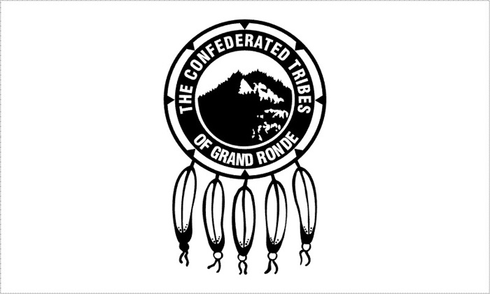 Flag of Tribes of Grand Ronde Reservation