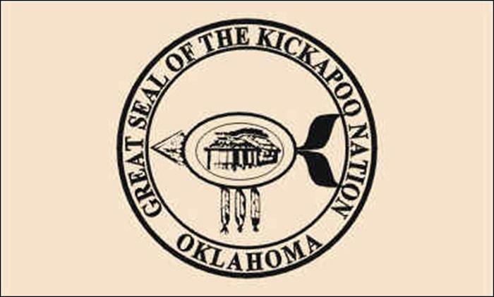 Flag of Kickapoo Tribe of Oklahoma