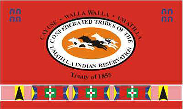 Flag of Tribes of Umatilla Reservation