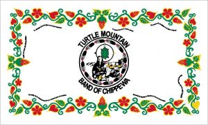 Flag of Turtle Mountain Band of Chippewa Indians